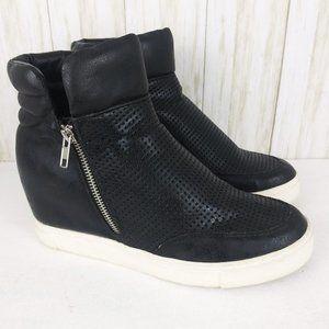 Steve Madden Black Hidden Wedge Sneakers 9.5
